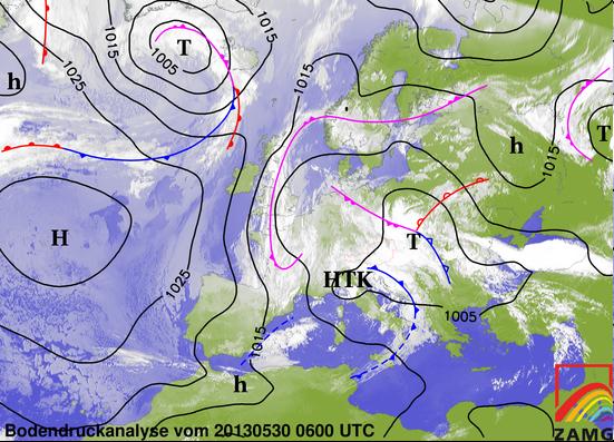 Image d'illustration pour Fortes pluies près des Pyrénées