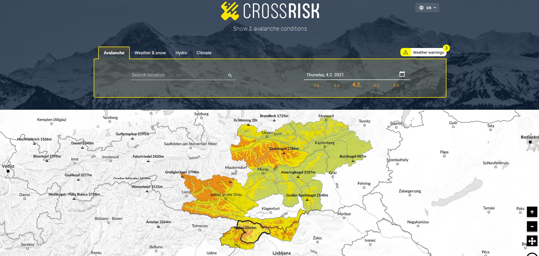 Einheitliche Lawinenwarnungen in der Grenzregion Österreich-Slowenien