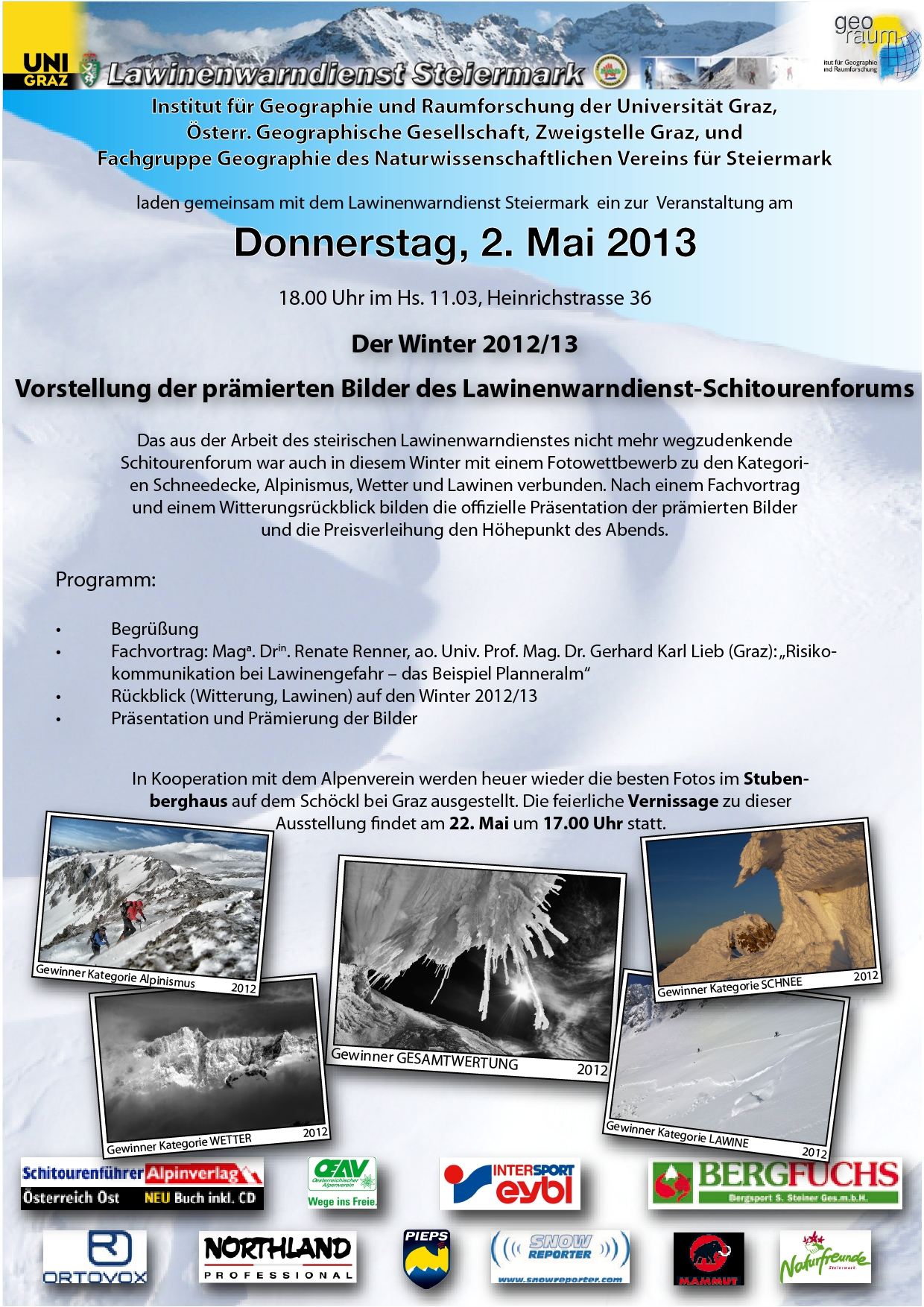 Einladung: Saison-Ausklang des LWD Steiermark mit Prämierung der besten Winter-Fotos