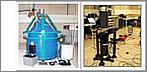 Das Supraleitendes Gravimeter (links) und zwei Absolutgravimeter (links) beobachten unmittelbar die zeitliche Schwerevariation am Conrad Observatorium. © ZAMG Geophysik