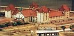 Ausschnitt (Wiener Neustädter Burg = Militärakademie) aus dem Modell von Wiener Neustadt um 1720, das vom Modellbildhauer Oskar Chmelik sehr sorgfältig nach historischen Plänen und Dokumenten aus dem Stadtarchiv hergestellt wurde. © ZAMG Geophysik Hammerl