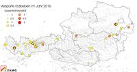 2016 brachte überdurchschnittlich viele Erdbeben in Österreich