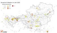 2020 relativ viele Erdbeben in Österreich