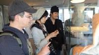 Besuch des japanischen Medienkünstlers Ueda Satoshi an der ZAMG
