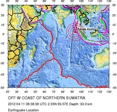 Erdbeben vor Sumatra in Indonesien