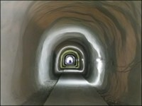 Der GMO – Tunnel am Ende der Bauphase. © ZAMG Geophysik