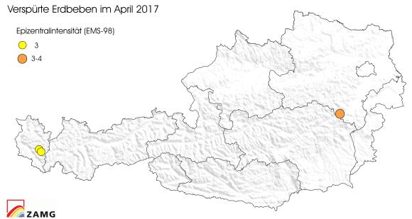 Erdbeben im April 2017