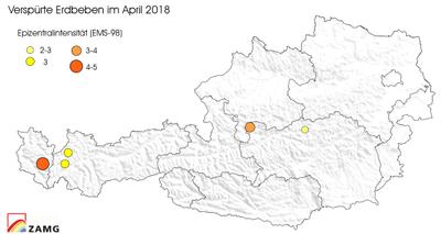 Erdbeben im April 2018