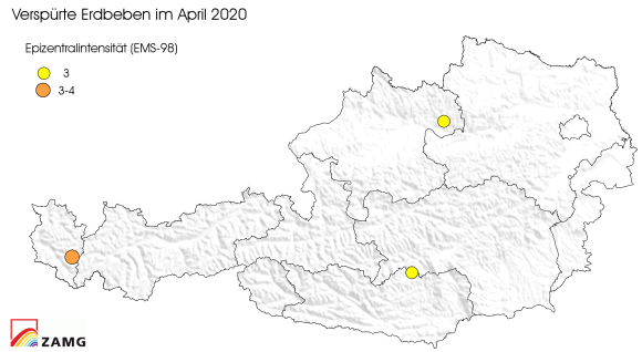 Erdbeben im April 2020