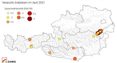 Erdbeben im April 2021