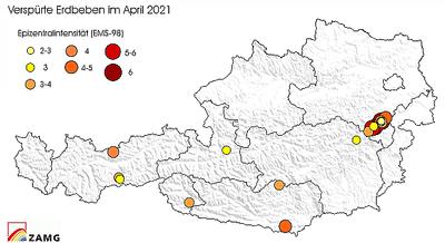 Erdbeben im April 2021sh