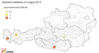 Erdbeben im August 2019
