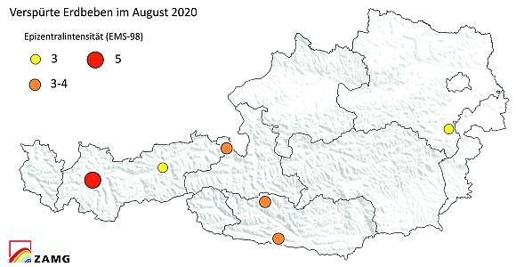 Erdbeben im August 2020
