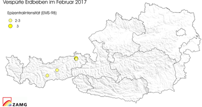 Erdbeben im Februar 2017
