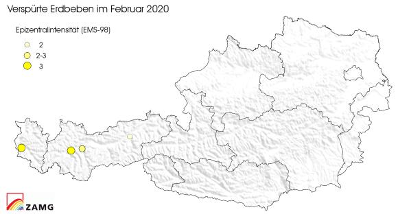 Erdbeben im Februar 2020
