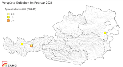 Erdbeben im Februar 2021