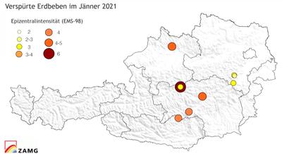 Erdbeben im Jänner 2021