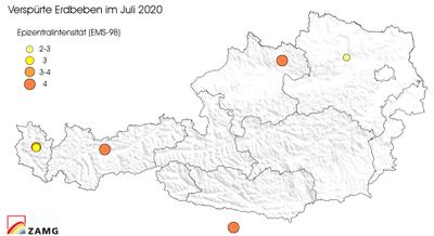 Erdbeben im Juli 2020