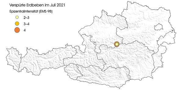 Erdbeben im Juli 2021