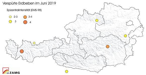 Erdbeben im Juni 2019