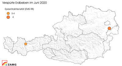 Erdbeben im Juni 2020