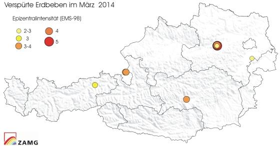 Erdbeben im März 2014