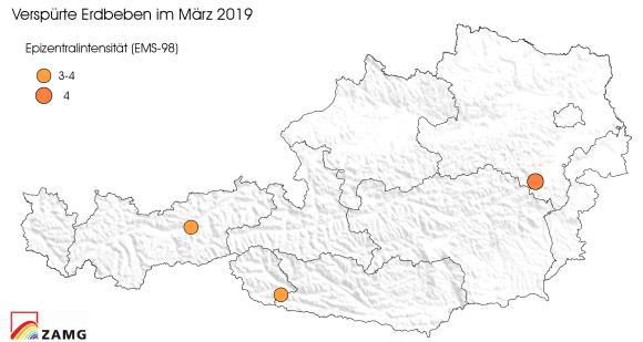 Erdbeben im März 2019