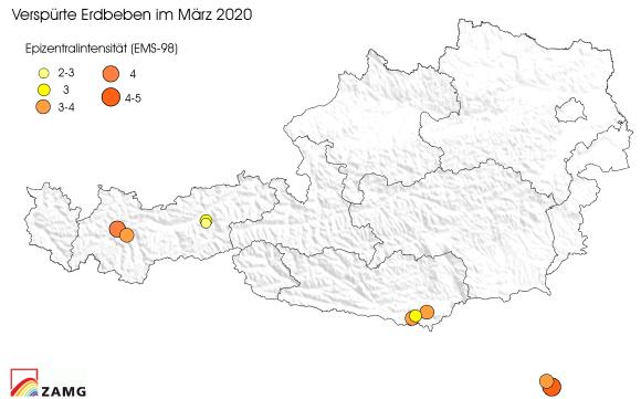 Erdbeben im März 2020