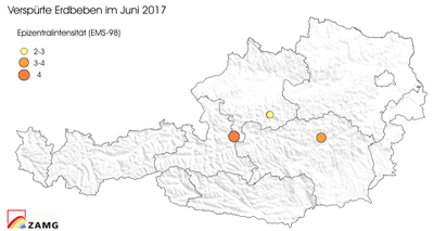 Erdbeben im Juni 2017 neu