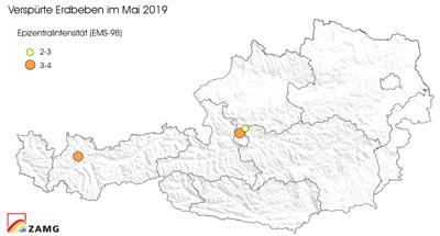 Erdbeben im Mai 2019