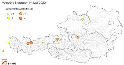 Erdbeben im Mai 2020