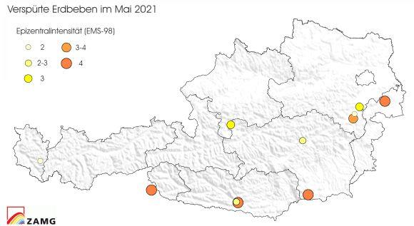 Erdbeben im Mai 2021