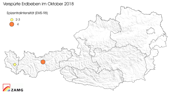 Erdbeben im Oktober 2018