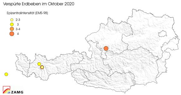 Erdbeben im Oktober 2020