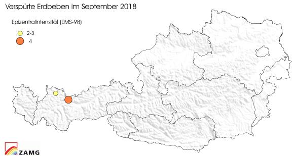 Erdbeben im September 2018