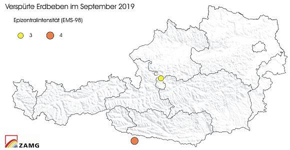 Erdbeben im September 2019