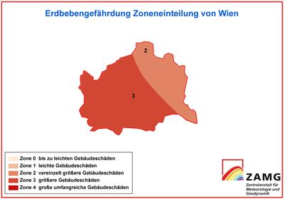 Erdbebengefährdung Zonen Wien