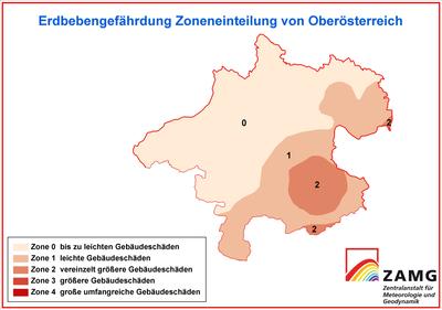 Erdbebengefahr Oberösterreich
