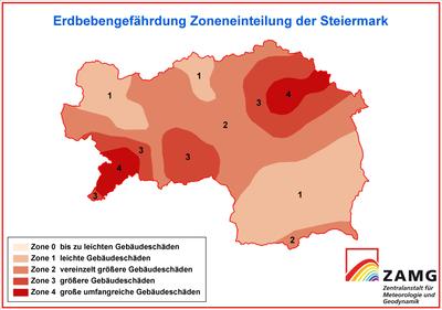 Erdbebengefahr Steiermark