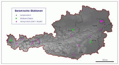 Messnetz des Österreichischen Erdbebendienstes