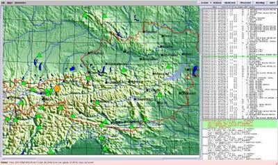 dbevents - Lokalisierung des Erdbebens vom 26. 06. 2012