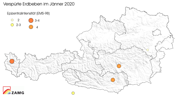 Erdbeben im Jänner 2020
