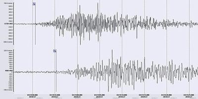 Felssturz Mai 2018 SeismogrammAusschnitt 580px