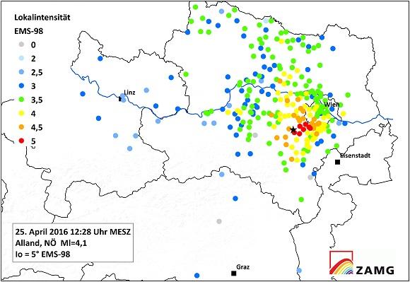 Ein neuer online-Fragebogen für Erdbeben-Wahrnehmungen