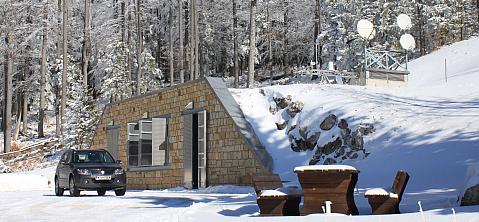 Das Conrad Observatorium am Trafelberg im Winter. © ZAMG Geophysik Blaumoser