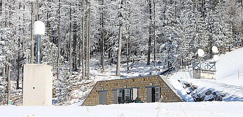 Das Conrad Observatorium im Winter. © ZAMG Geophysik Blaumoser