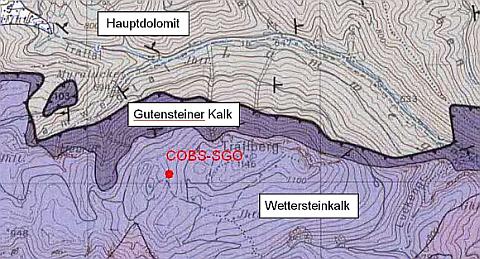 Geologische Karte der Region um den Trafelberg. © Summensberger, 1991