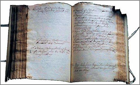 """Quellenbeispiel: Im Tagebuch des Pater Urban (Tagebuch P. Urban, 20. Juli 1841, 1791–184, fol. 168v) findet sich am 26. März 1826 folgender Eintrag:""""1826 26. März (Ostersonntag) starker Erdstoß, um 3/4 auf 2 Uhr nachmittag."""""""