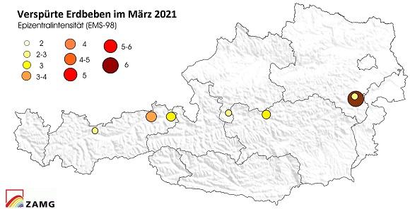 Erdbeben im März 2021