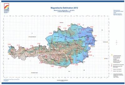 Magnetische Deklination 2012